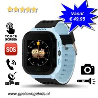 GPS horloge kind camera lantaarn blauw tracker telefoon