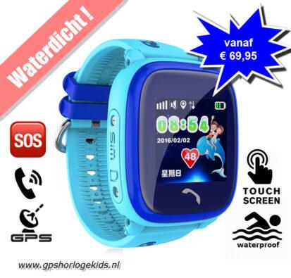 gps horloge junior kind aqua waterdicht waterproof tracker telefoon