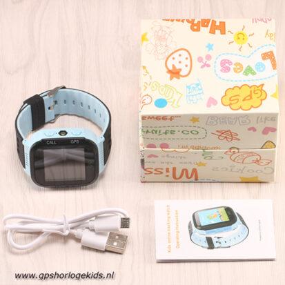 GPS horloge kind camera lantaarn blauw