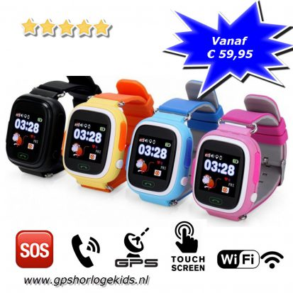 gps horloge junior wifi kind tracker telefoon sos