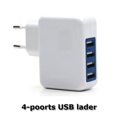 4 poorts USB lader