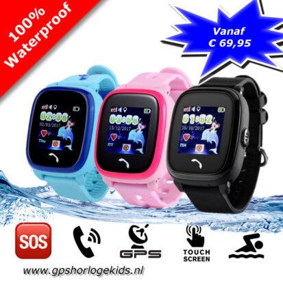 gps horloge junior aqua tracker telefoon sos waterdicht waterproof Wifi