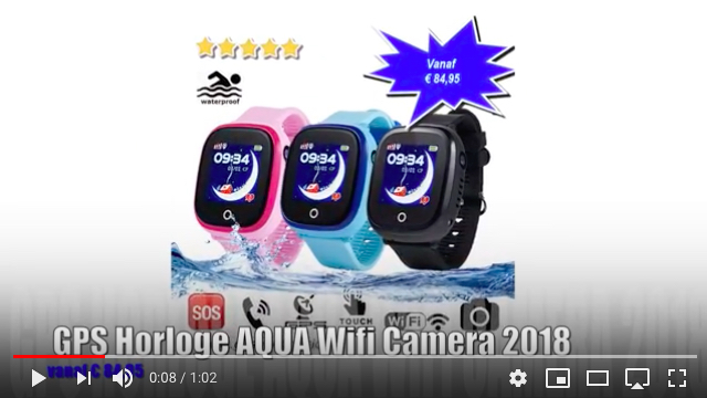 gps horloge junior aqua wifi camera 2018 telefoon sos waterdicht waterproof kind tracker YouTube