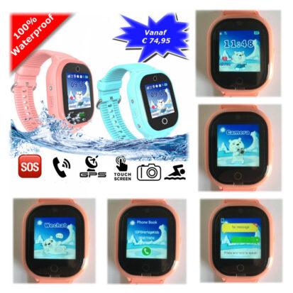 gps tracker horloge junior aqua camera telefoon sos waterdicht waterproof 2017