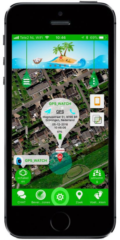 GPS horloge SeTracker App