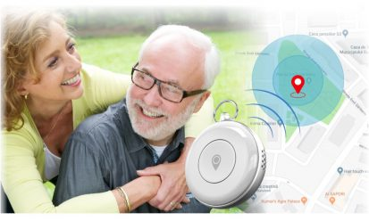 GPS Tracker SOS Medaillon AQUA Wifi bellen persoonlijk alarm