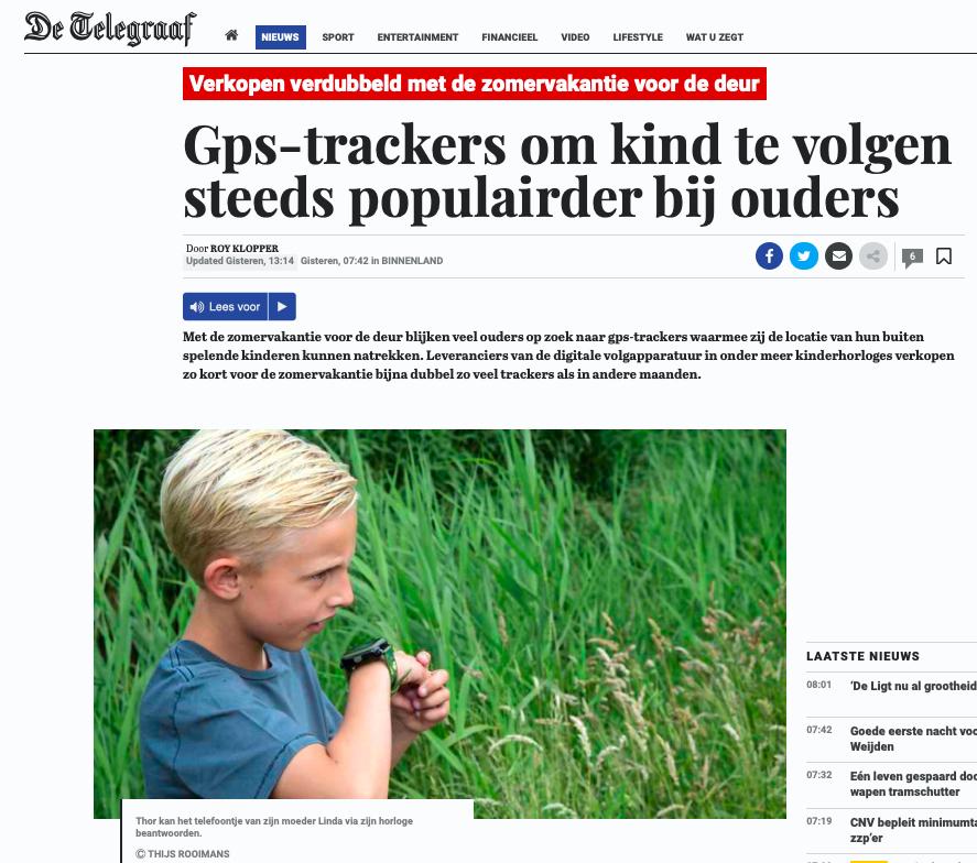 Drukte voor de zomer aanvragen GPS Horloges GPSHorlogeKids