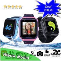 gps horloge junior 4G aqua wifi videocall telefoon sos waterdicht waterproof kind tracker lantaarn GPSHorlogeKids