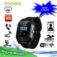 GPS horloge senior 4G VideoCall aqua wifi health telefoon tracker sos bellen waterdicht waterproof persoonlijk alarm oudere veiligheid GPSHorlogeKids