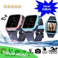 gps horloge junior max 4G aqua wifi videocall telefoon sos waterdicht waterproof kind tracker videobellen GPSHorlogeKids