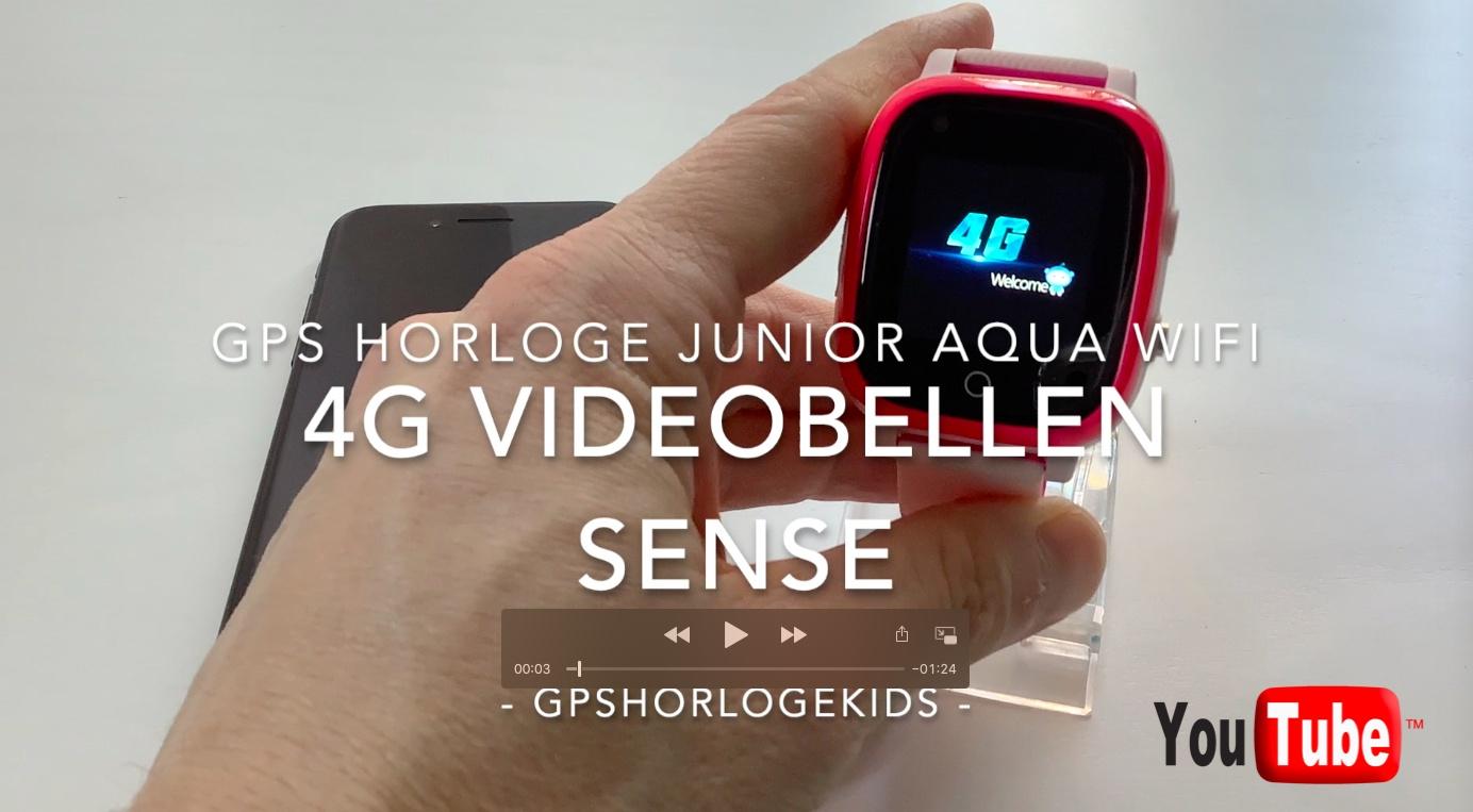 gps horloge kind sense junior 4G aqua wifi videocall telefoon sos waterdicht waterproof junior tracker videobellen temperatuur hartslag en bloeddruk meten GPSHorlogeKids