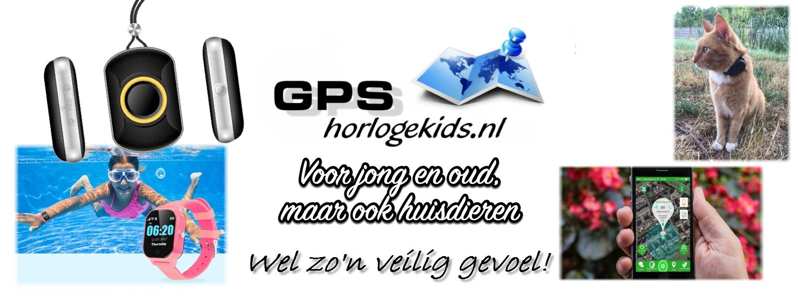 GPSHorlogeKids GPS Horloge Kind tracker bellen SOS voor jong oud en huisdieren tracker hond kat poes goedkoop