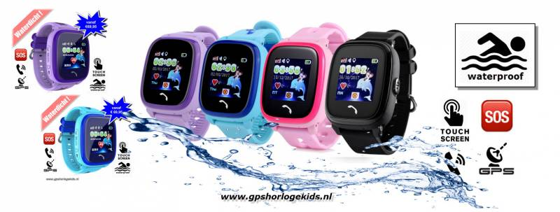 gps tracker horloge junior aqua camera telefoon sos waterdicht waterproof